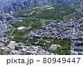都市景観・北の丸公園周辺・空撮 80949447