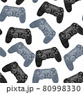 Seamless pattern with joysticks for computer video games and consoles 80998330