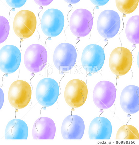 Seamless pattern with bright festive balloons on a white background 80998360
