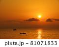 有明海の夜明けの風景 81071833