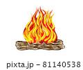 campfire vector 81140538