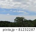 夏の青空と白い雲 81232287