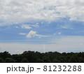 夏の青空と白い雲 81232288