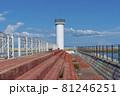 防波堤 灯台 ペクリョン島 81246251