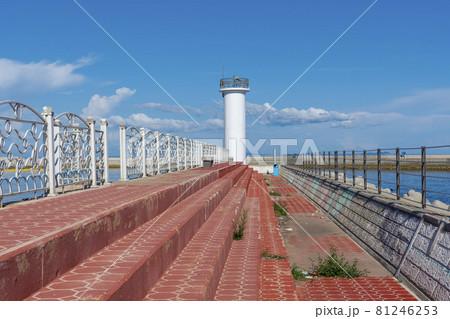 防波堤 灯台 ペクリョン島 81246253