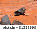 アメリカ まるで火星のような赤い大地のサンドホロー州立公園 81329998
