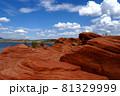 アメリカ まるで火星のような赤い大地のサンドホロー州立公園 81329999
