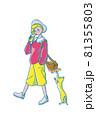 80年代ファッションの女の子 81355803