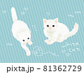 手書きの白猫のイラスト 81362729