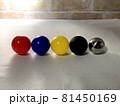 カラーボール_光の強さと色の違い009 81450169