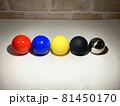 カラーボール_光の強さと色の違い010 81450170