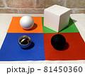 白黒_色_形_配置のランダムな幾何形体006 81450360