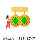 Earrings Flat Illustration 81548747