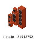 Loudspeakers Isometric Illustration 81548752