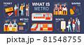 Metro Flat Inforgraphics 81548755
