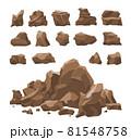 Rocks Set Realistic 81548758