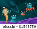 Aliens Space Cartoon Image 81548759