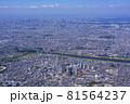 川崎上空より東京湾を望む・航空写真 81564237