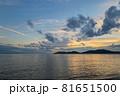 山口県光市虹ケ浜海水浴場から見た風景2021(秋) 81651500