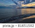 山口県光市虹ケ浜海水浴場から見た風景2021(秋) 81651502