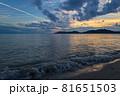 山口県光市虹ケ浜海水浴場から見た風景2021(秋) 81651503