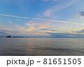 山口県光市虹ケ浜海水浴場から見た風景2021(秋) 81651505