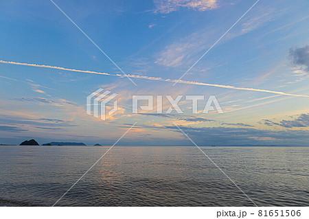 山口県光市虹ケ浜海水浴場から見た風景2021(秋) 81651506