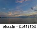 山口県光市虹ケ浜海水浴場から見た風景2021(秋) 81651508