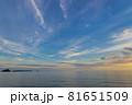 山口県光市虹ケ浜海水浴場から見た風景2021(秋) 81651509