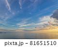 山口県光市虹ケ浜海水浴場から見た風景2021(秋) 81651510