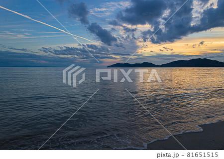 山口県光市虹ケ浜海水浴場から見た風景2021(秋) 81651515