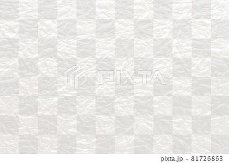 市松模様のもみ紙の背景 81726863