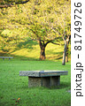 公園のベンチ 81749726