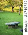 公園のベンチ 81749729