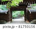 智福山法輪寺の山門から石段参道を見る(京都市西京区) 81750156