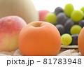 梨と桃とメロンとマスカットと巨峰 81783948