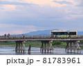 夕暮れの京都 嵐山 渡月橋 81783961