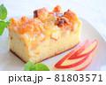 リンゴのケーキ(アップルケーキ)_秋のスイーツ・秋のお菓子イメージ 81803571