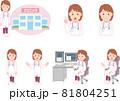 女性医師_セット 81804251