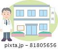 年配の男性医師と個人病院 81805656