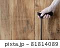 杖を握る人物の手元 81814089