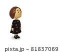 黒ワンピースの人形 横向き 81837069