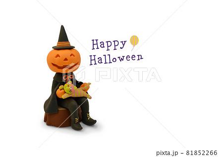 ハロウィン〜かぼちゃと猫 クレイアート 81852266