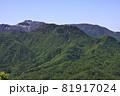 豊平山から見る札幌岳と周辺の山並み 81917024