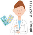 薬と女性薬剤師 81927811