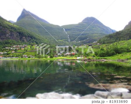 ノルウェー ガイランゲル ジオラマ風 81933690