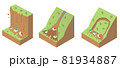 土砂災害の種類と構造 アイソメトリックなイラスト 81934887