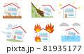 災害と家のアイコンイラスト 81935177