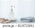 アルコール消毒スプレーで消毒。白背景・消毒液。 81972891