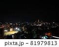 地方都市の夜景 ナイターのグラウンドも 81979813